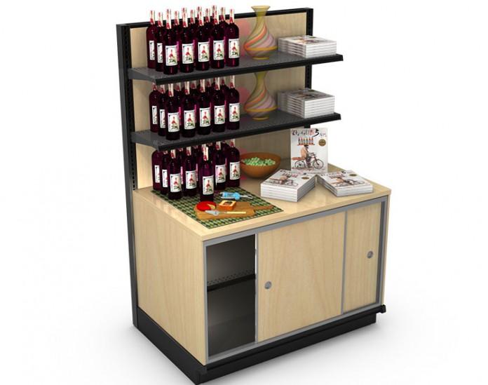 Wine Spirits End Cap Tasting Station
