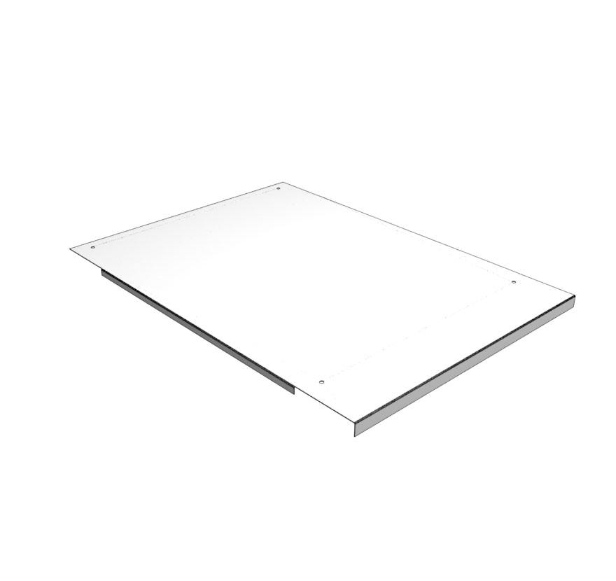 Top Pan for Three Way End Cap with Wall Sections