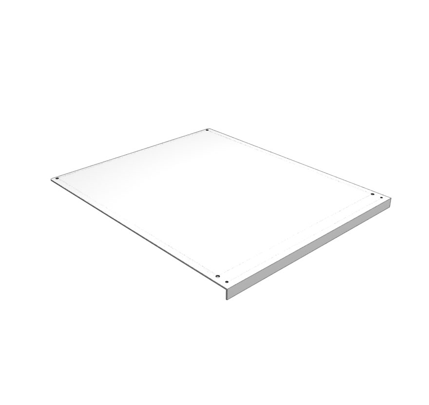 Top Pan for Three Way End Cap with Wood Base