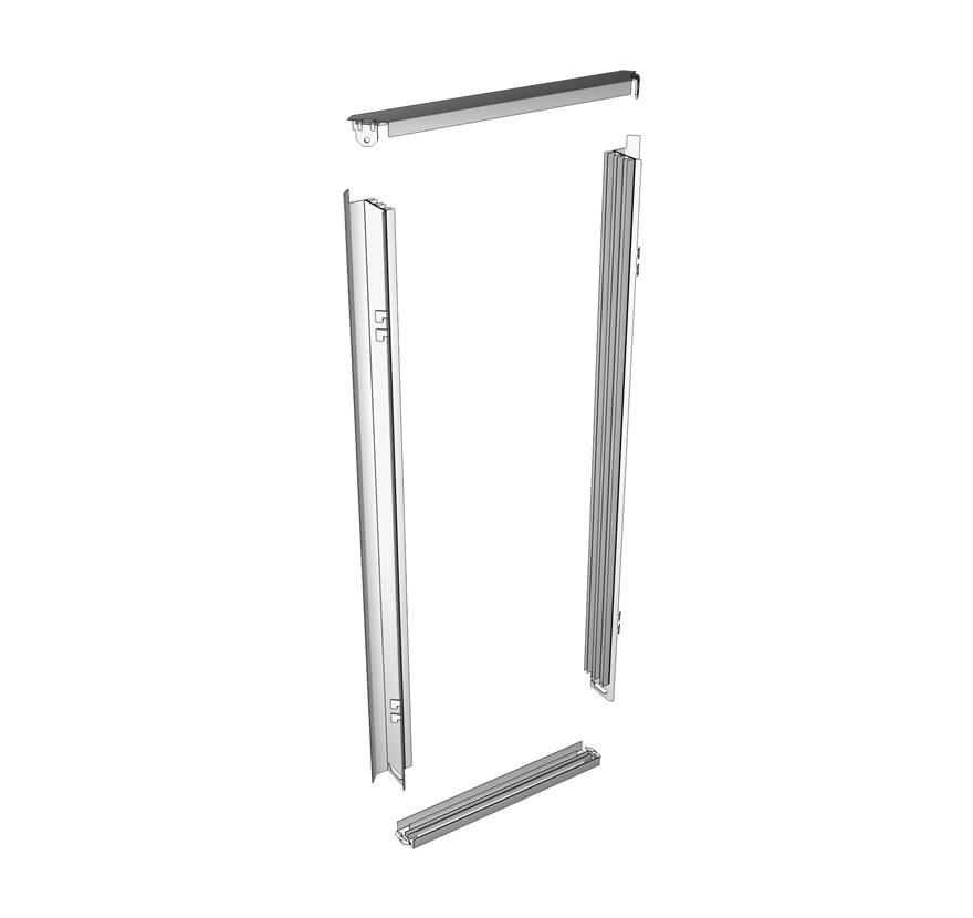Checkout Queuing Shelving 45 Corner Rail Kit Lozier