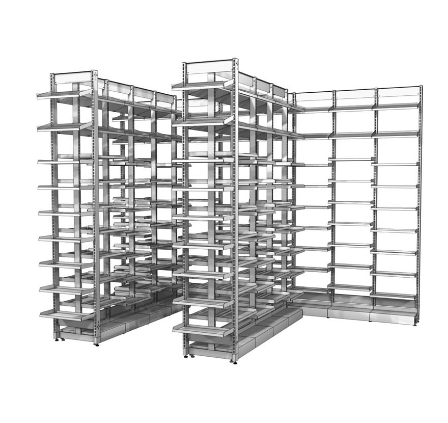 Flex Rx Pharmacy Shelving Lozier