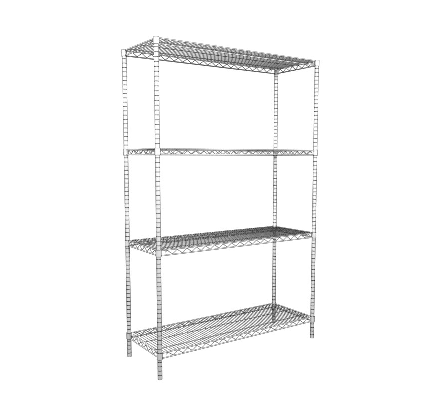 Freestanding Retail Shelving 4 Post System Lozier
