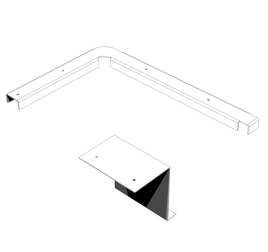 Full Height Wing to End Frame & End Deck Accessory Panel Connectors