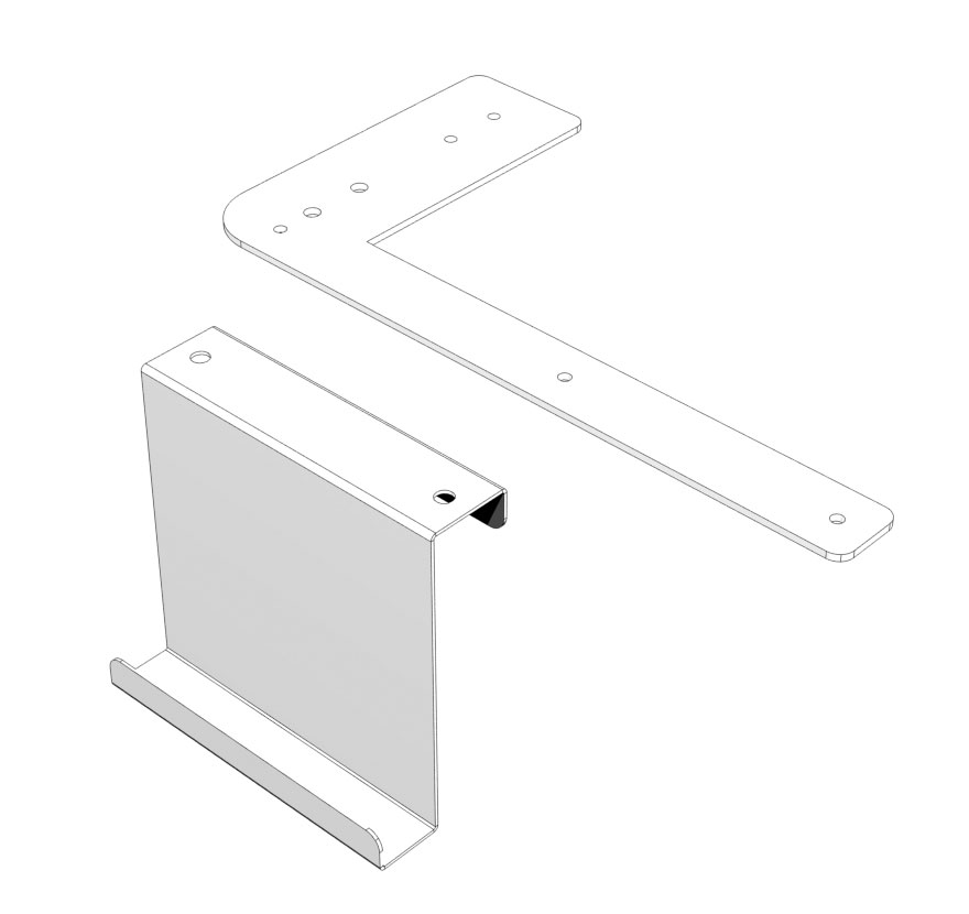Full Height Wing to Wall End Display Accessory Panel Connectors