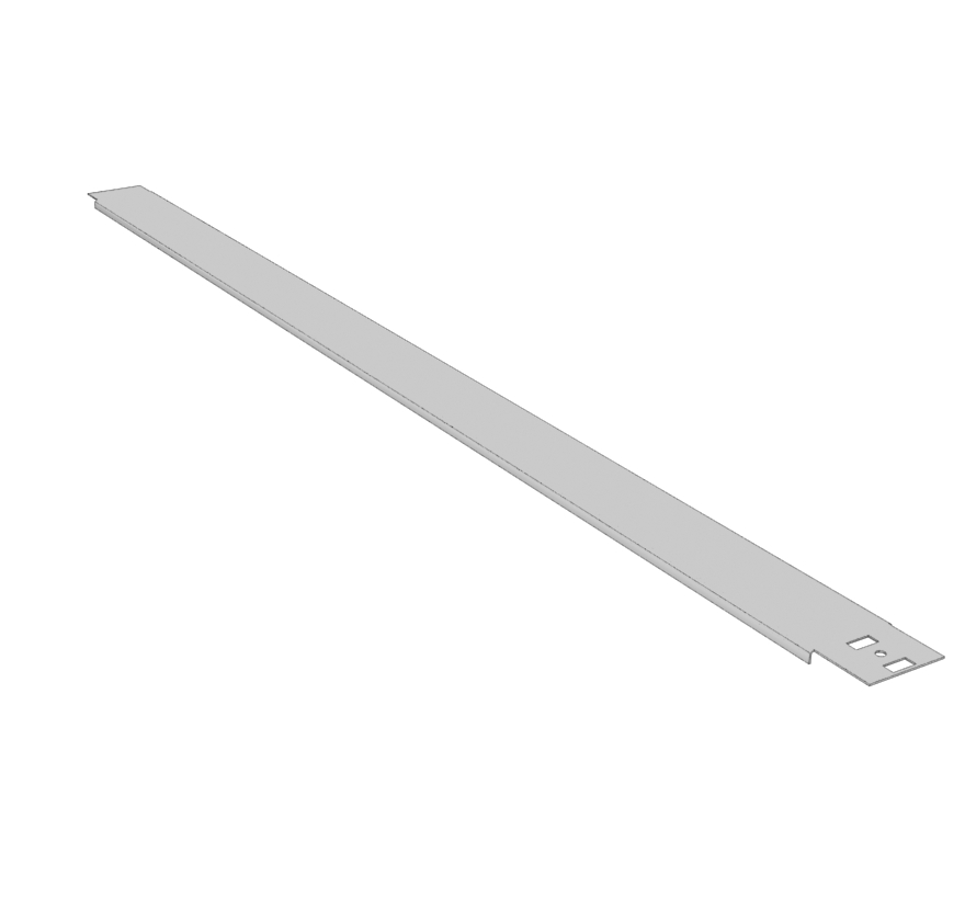 Gondola End Caps Heavy Duty End Merchandising Panel Top Channel-Isolated Lozier