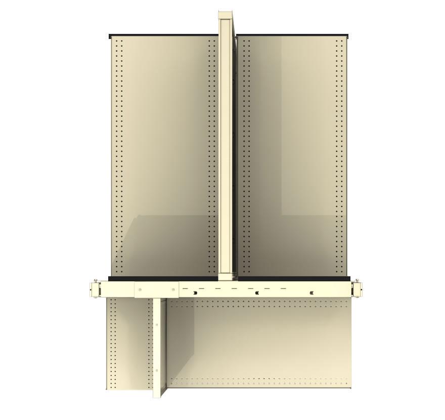 Gondola End Caps Versa End Cap with EMP Style Divider Panel Top View1 Lozier