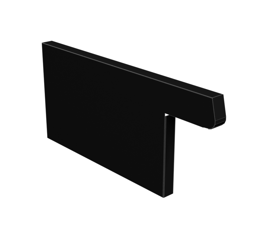 Extended Base End Trim Lozier Gondola Shelving