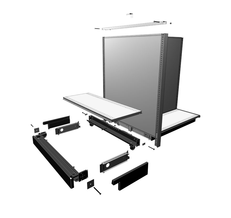 Mobile Gondola Wall End Display Kit Lozier