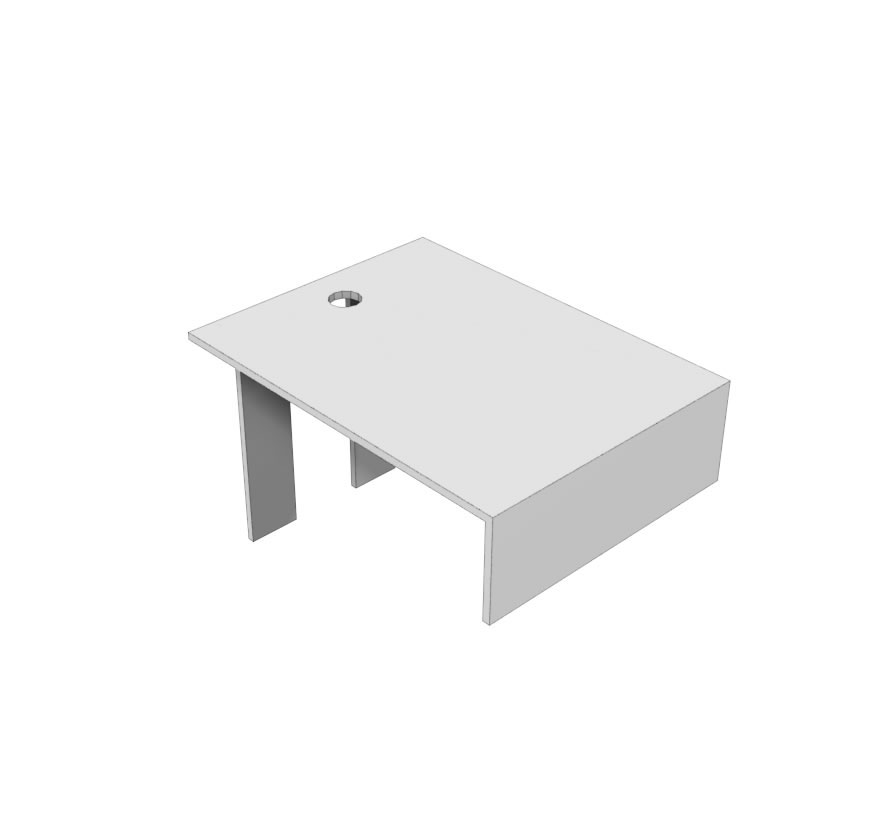 Wall End Positioner Bracket for Top Cap Retail Shelving Lozier