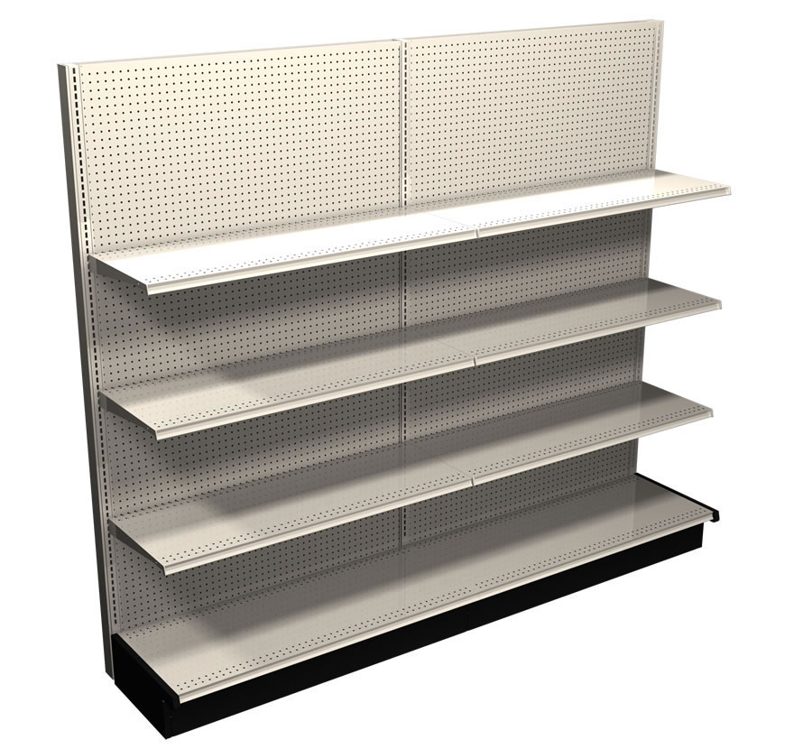 Lozier Gondola Shelving Wall Section