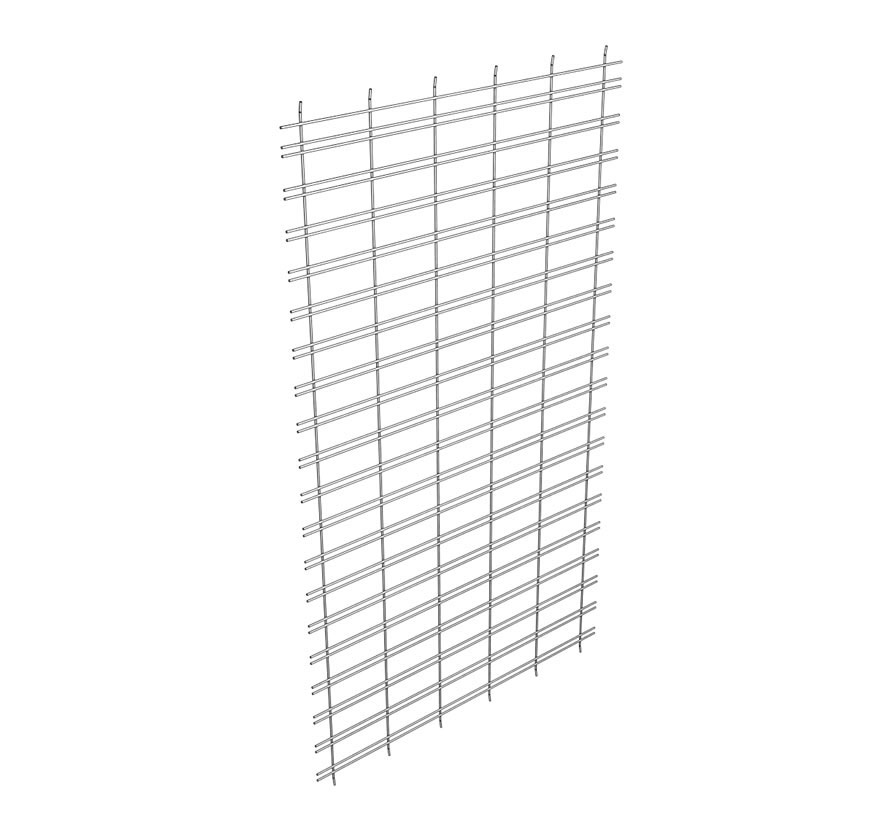 Wire Back Retainer Extension Slot Grid Lozier