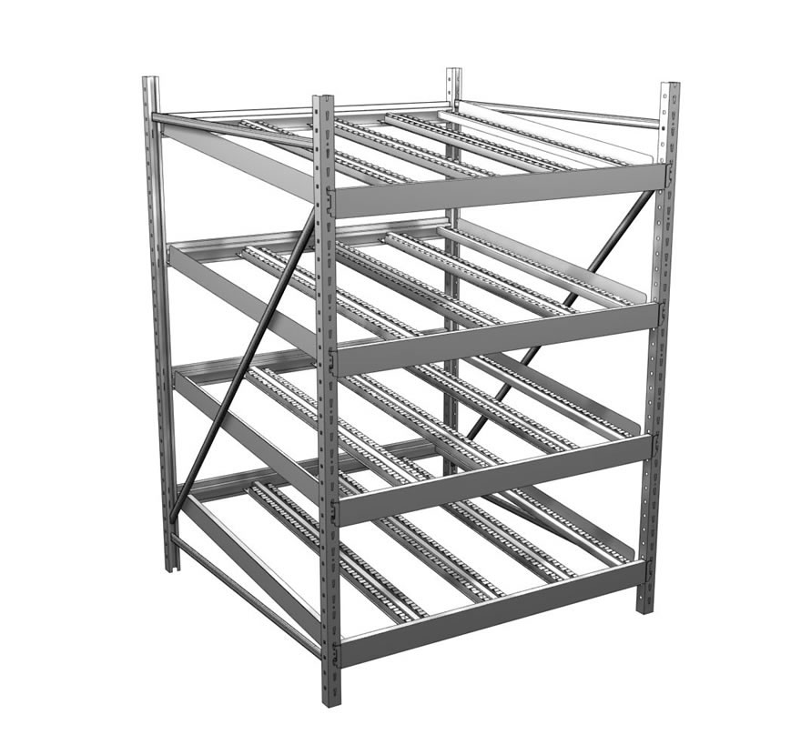 Industrial Shelving Gravity Flow Rack Track Roller Gallery1 Lozier