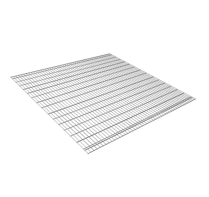 Widespan Gravity Flow Wire Grid Shelf