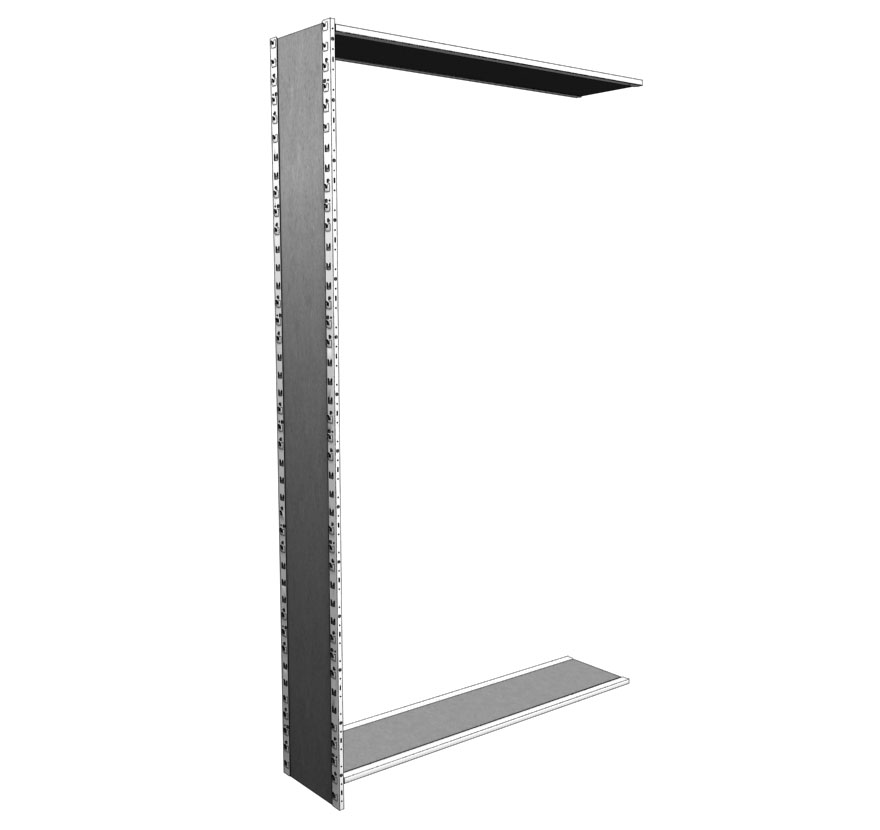 Industrial Shelving S-Series Closed Uprite No Back Lozier