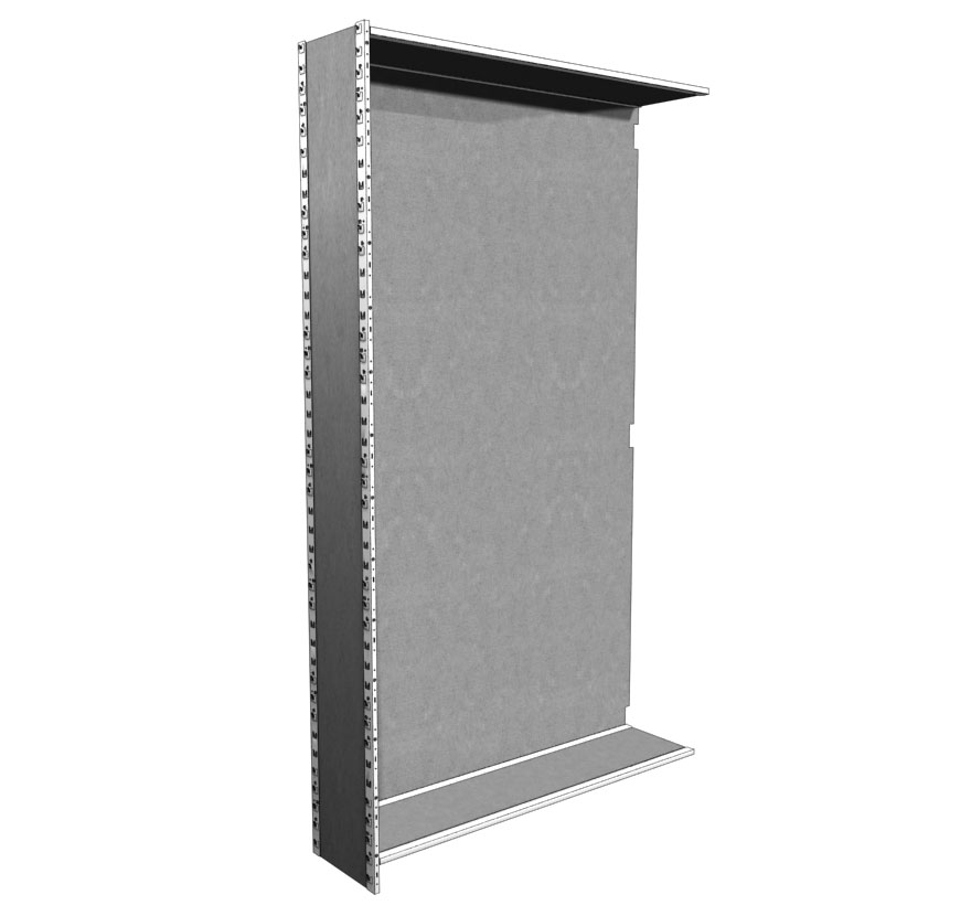 Industrial Shelving S-Series Closed Uprite with Back Lozier