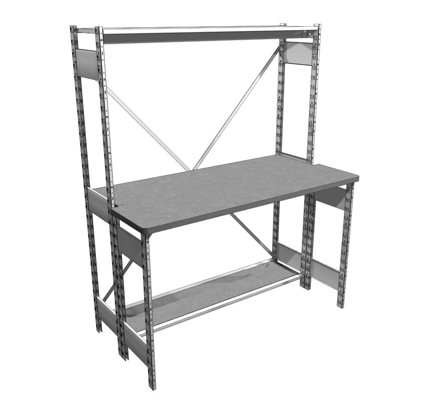 Industrial Shelving S-Series Desk Lozier