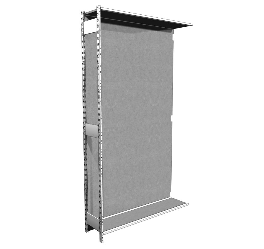 Industrial Shelving S-Series Open Uprite with Back Lozier
