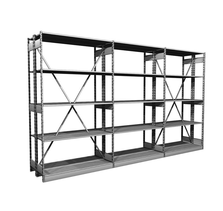 Industrial Shelving S-Series Storage Shelving Crossbrace Gallery2 Lozier