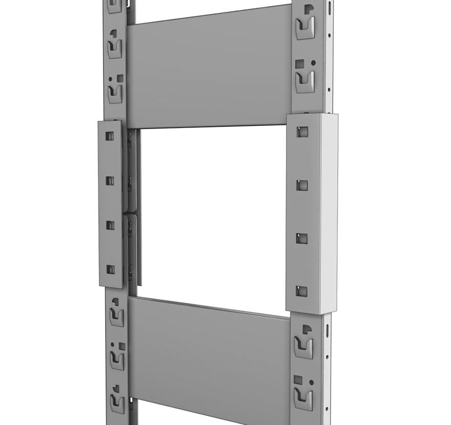 Industrial Shelving S-Series Uprite Connector Gallery1 Lozier