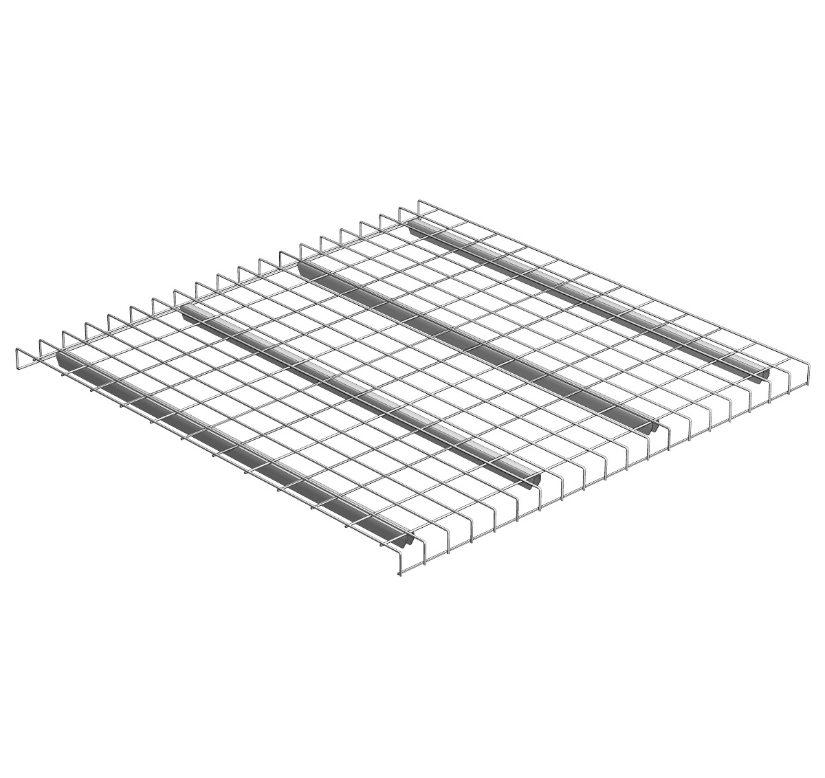 Pallet Rack Waterfall Wire Grid Decking