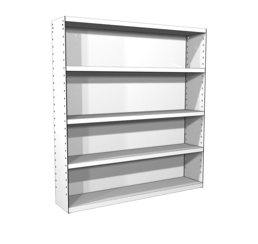 Classic Rx Wall Mounted Storage Shelving Lozier