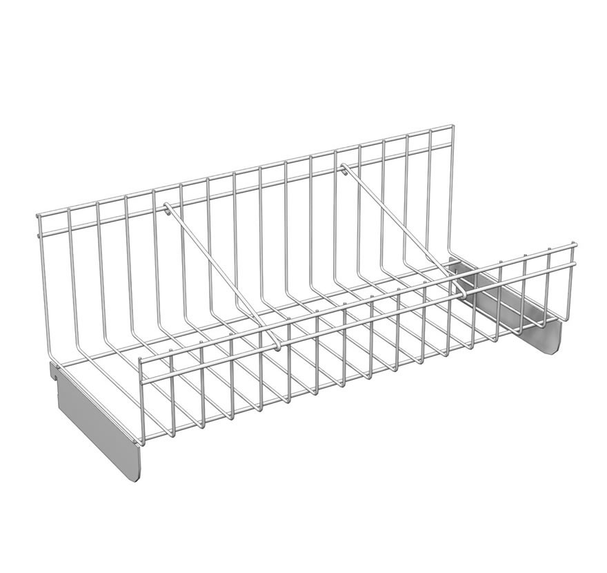Pharmacy Shelving Flex RX Accessories Will Call Basket with Divider Lozier