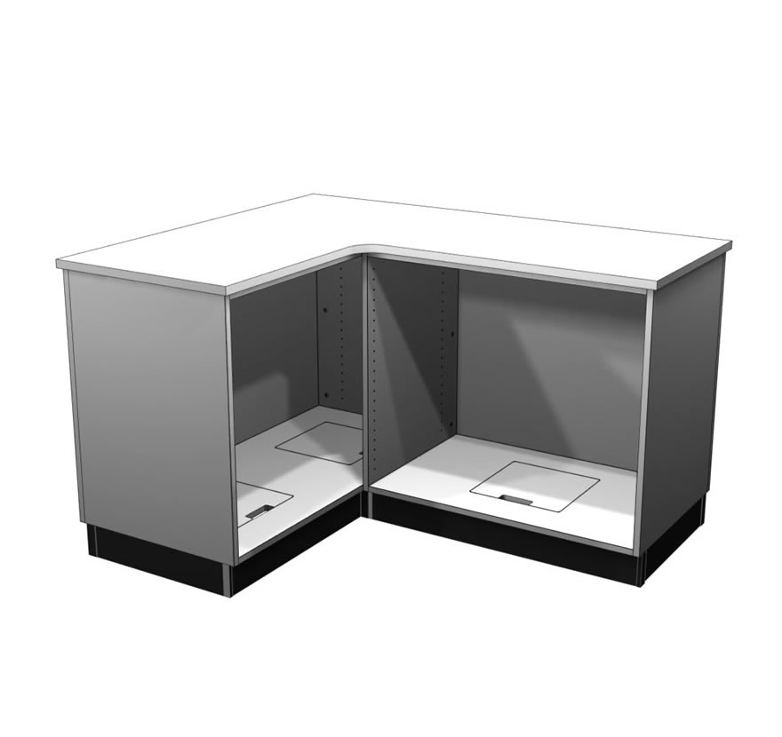 Retail Display Cases L Shaped Counter Gallery 1 Lozier