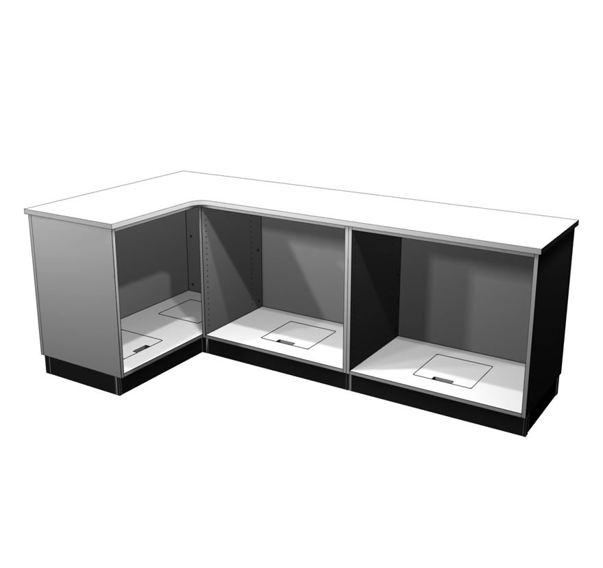 Retail Display Cases L Shaped Counter Gallery2 Lozier