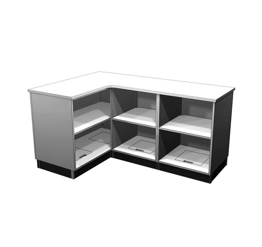 Retail Display Cases L Shaped Counter Lozier