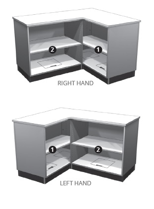 Retail Display Cases L shape configurations Lozier