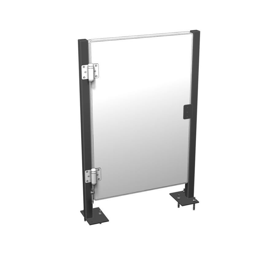 Retail Display Cases Swinging Gate Lozier