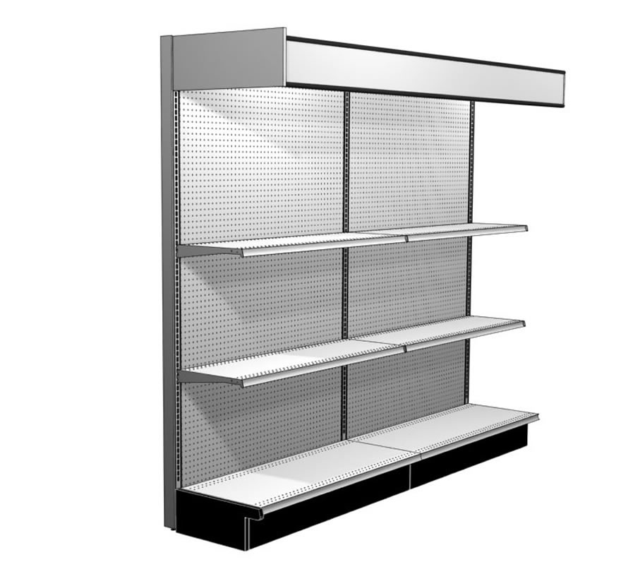 Retail Shelving Accessories Canopy Ends Gallery1 Lozier  sc 1 st  Lozier & Upper Canopy End Panel - Lozier