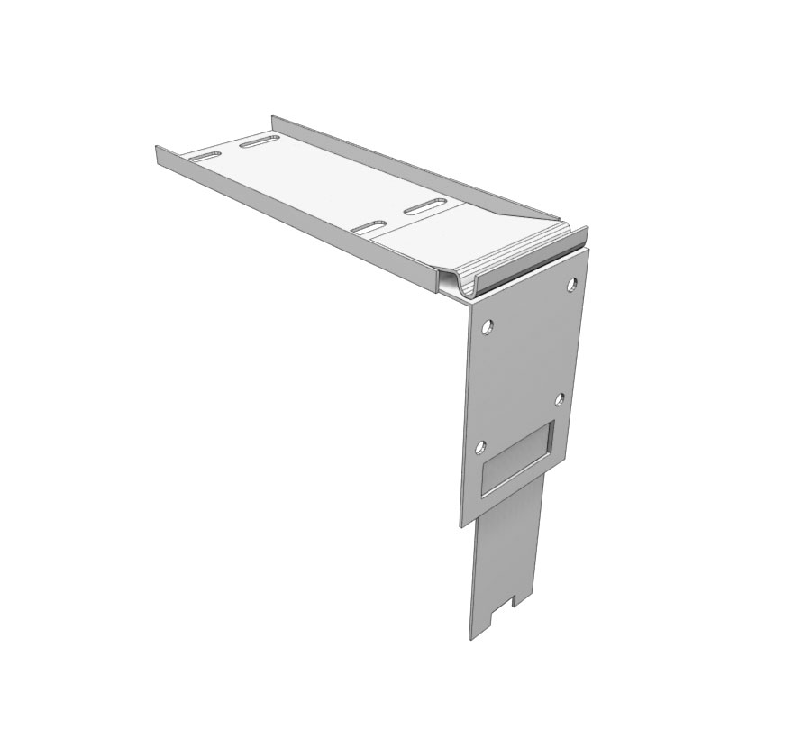 Contoured Frame Canopy Shelf-Mount Bracket