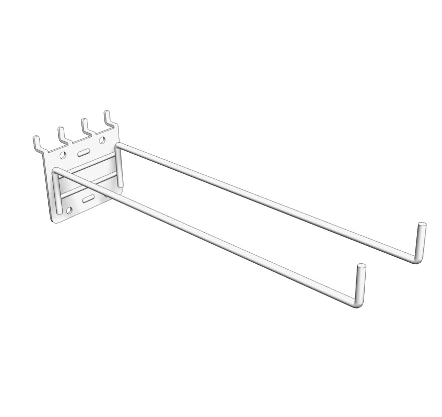 Pegboard Double Prong Utility Hook