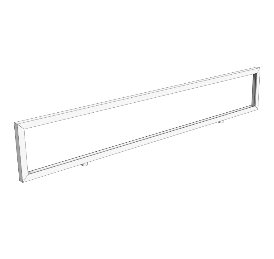 Retail Shelving Accessories Double Stem Mount Sign Holder Frame Lozier