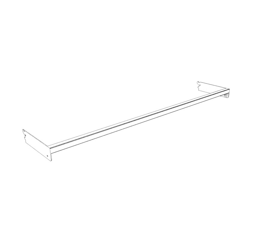Retail Shelving Accessories Extended Pegboard Crosstube Lozier