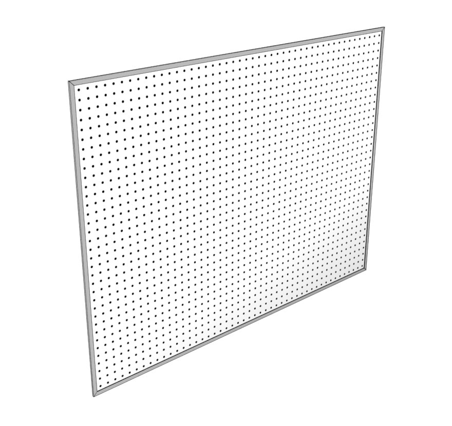 Retail Shelving Accessories Extended Pegboard Panel Lozier