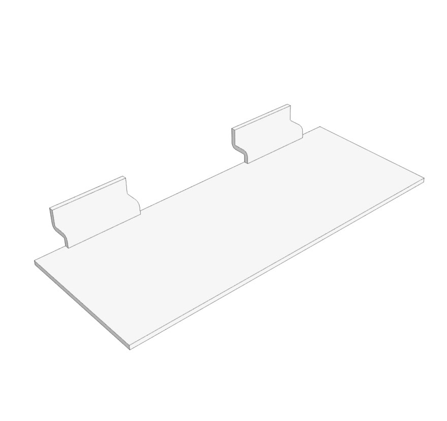 Slotwall Flat Shoe Shelf