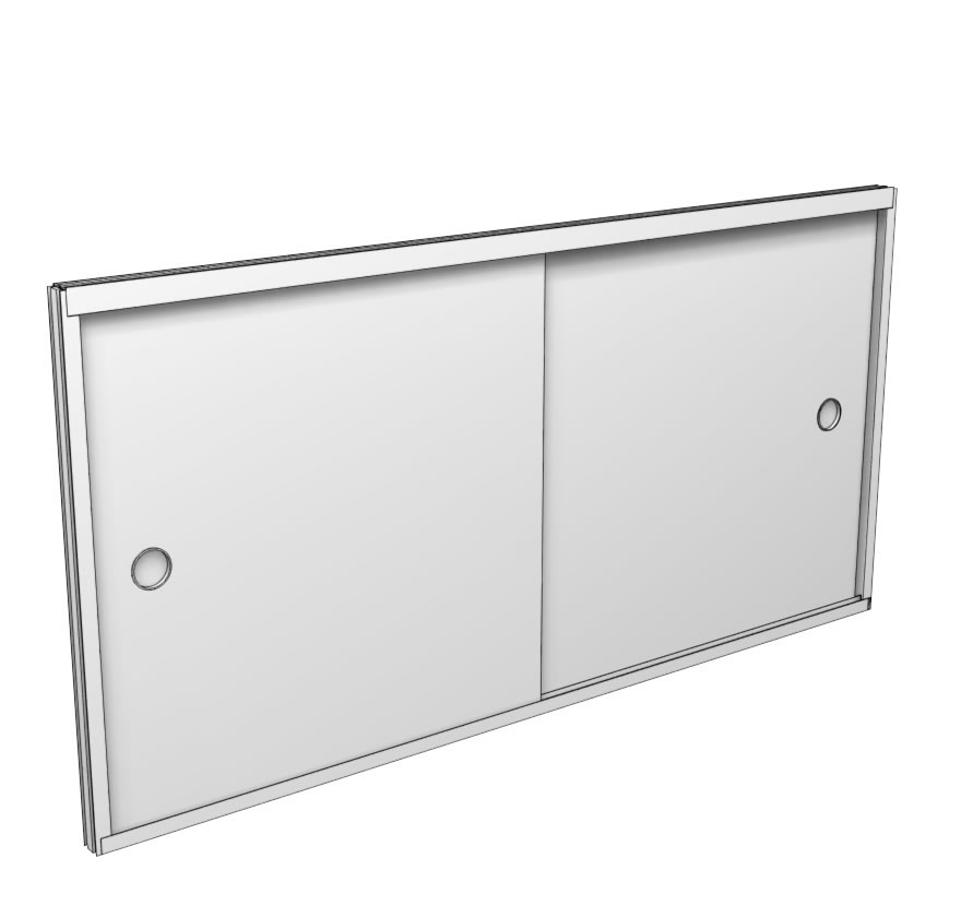 Retail Shelving Accessories Hardboard Door Kit Lozier