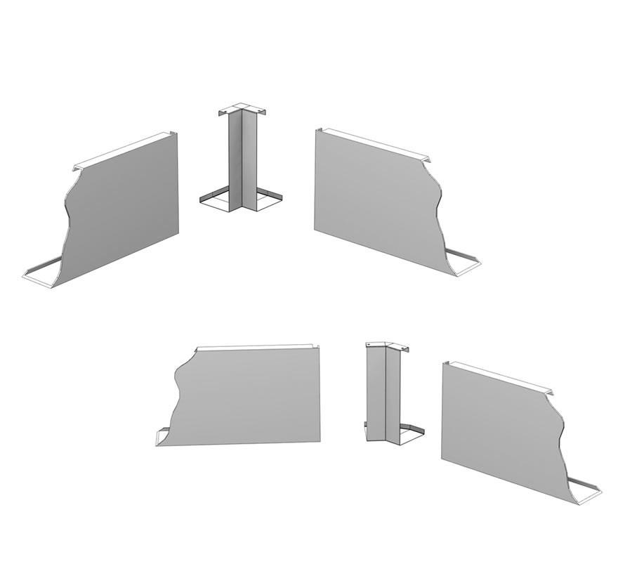 Metal Canopy Corner Adapters (Inside)