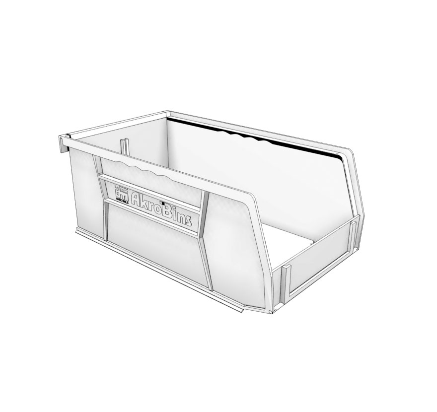 Retail Shelving Accessories Plastic Bins Lozier