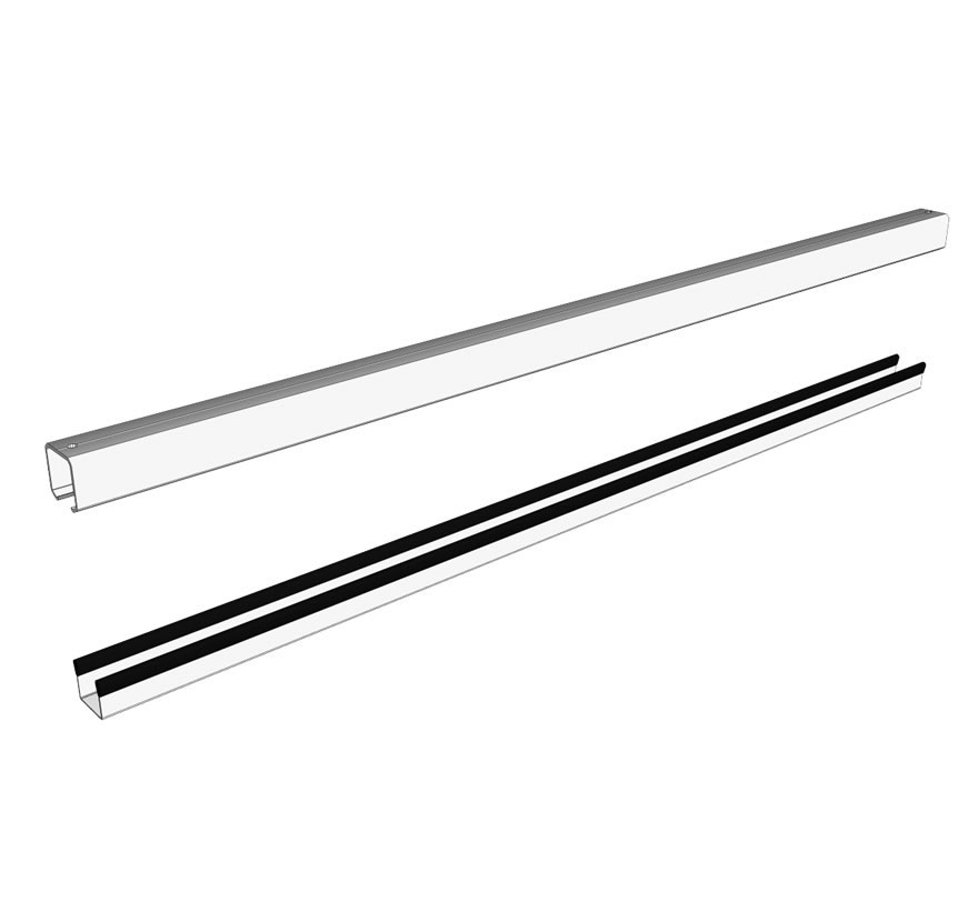 Retail Shelving Accessories Sliding Display HD Track Lozier