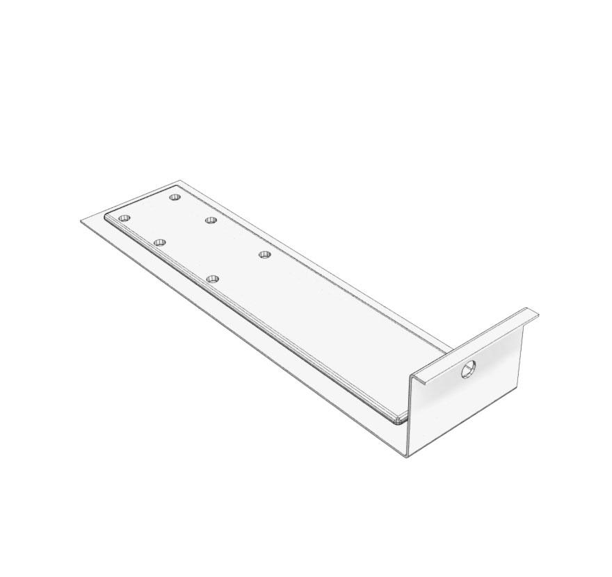 Retail Shelving Accessories T8 Light Bracket Lozier