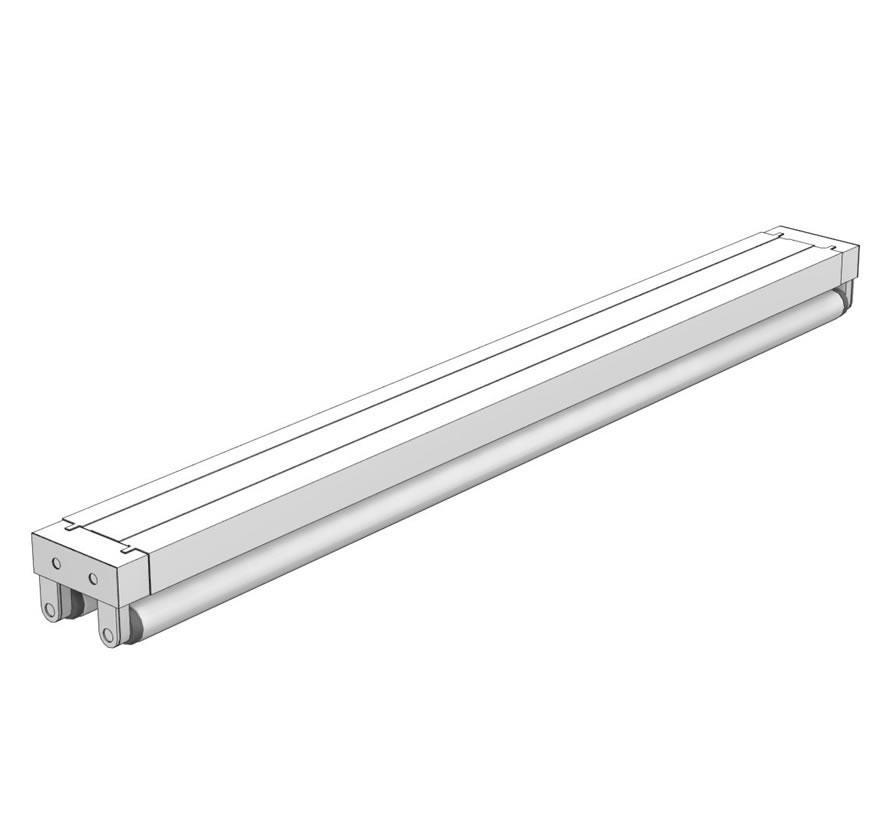 Retail Shelving Accessories T8 Light Fixture Double Lozier