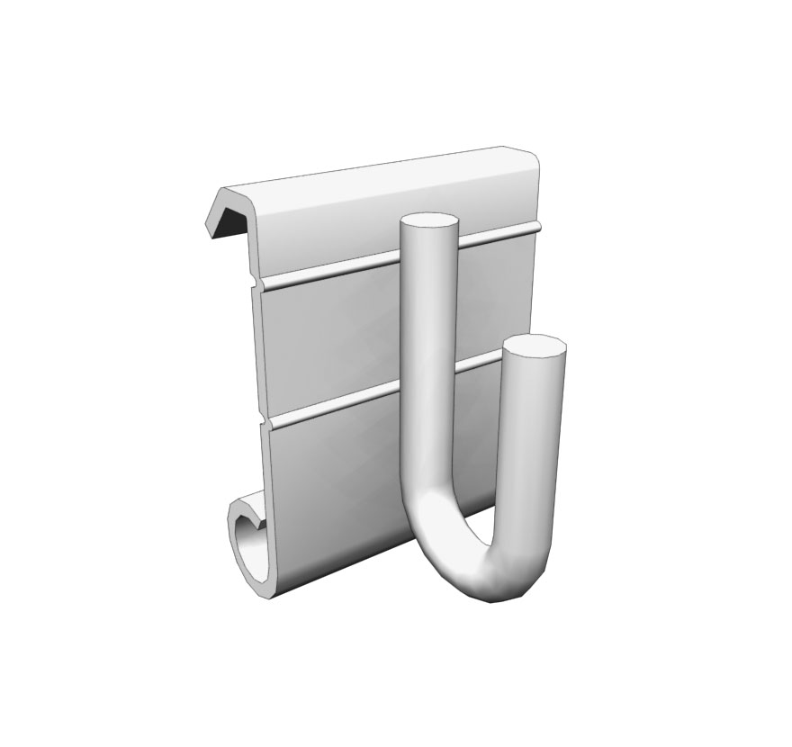 Wire Grid Accessory Panel Crossbar Hooks