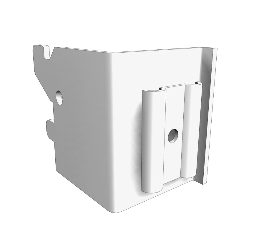 Wire Grid Accessory Panel Uprite Brackets