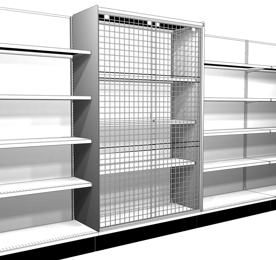 Retail Shelving Accessories Wire Grid Door Kit Gallery2 Lozier  sc 1 st  Lozier & Wire Grid Door Kit - Lozier