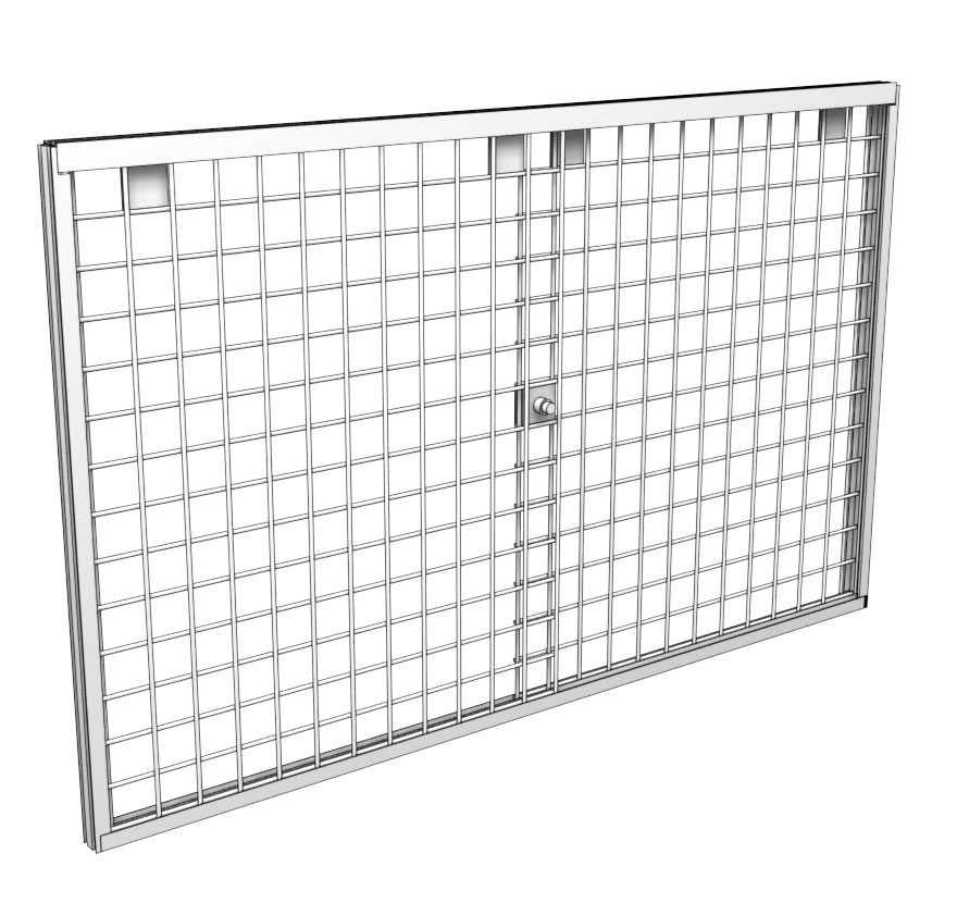 Retail Shelving Accessories Wire Grid Door Kit Lozier