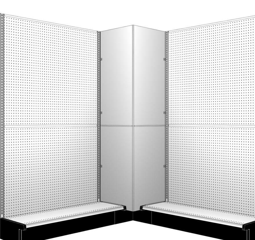 Box Corner Assembled Lozier Retail Shelving