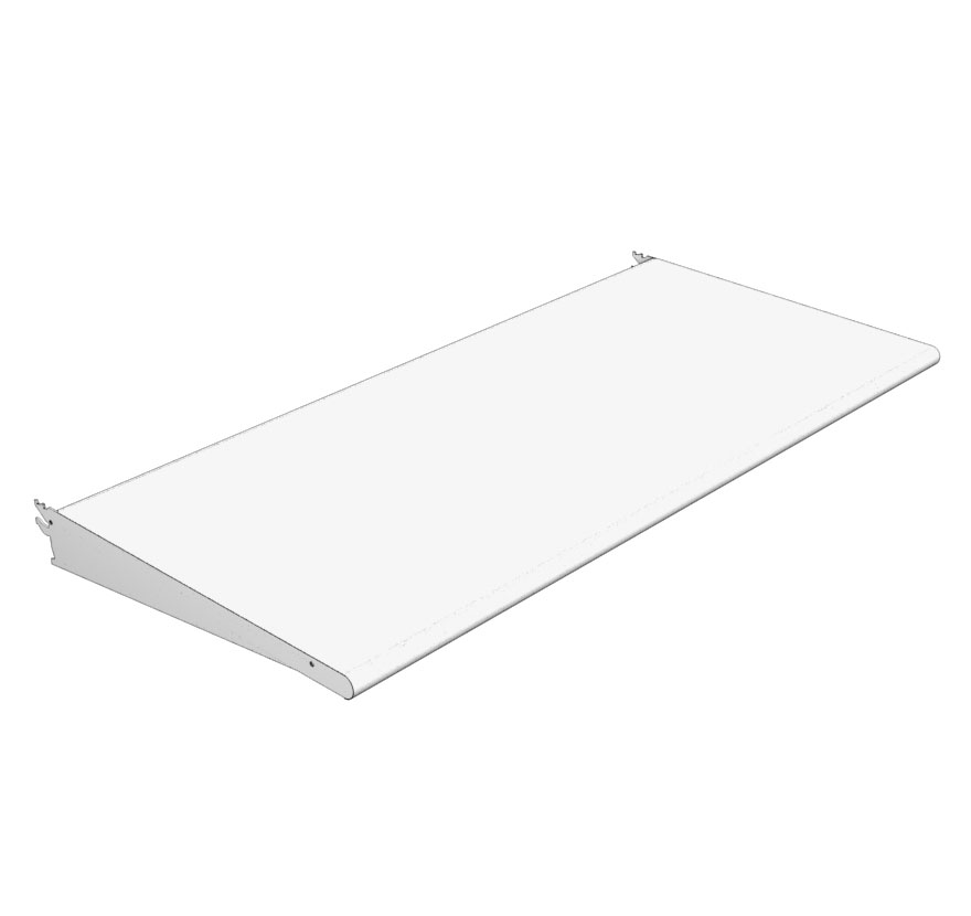Bullnose Shelf Unpunched Lozier Retail Shelving